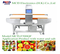 10 Level Adjustment Conveyor Metal Detectors For Water,Salt & High Moisture Content Food Industry Products MCD-F500QF