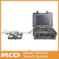 Under Vehicle Security Scanner Inspection With Car Surveillance System Four Pictures SONY Camera Color LCD MCD-V8